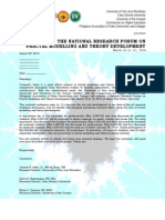 the national  research forum on fractal modelling and theory development