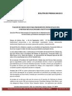 Boletin de Prensa 006-2013 Cde Pri Oaxaca