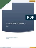 A Level Maths M1 Notes