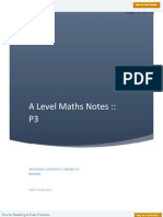 A Level Maths P 3 Notes