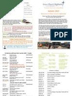 GCH Term Card - Autumn 2013