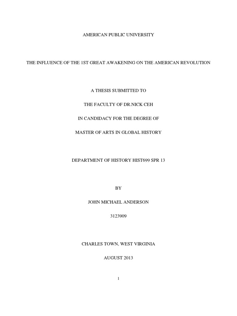 Thesis pre 1st great awakening and its influence on the american thesis pre 1st great awakening and its influence on the american revolution religion spirituality protestantism fandeluxe Image collections