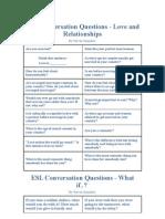 ESL Conversation Questions