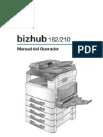 BIZHUB 162 210 ESpañol