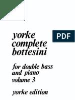 Yorke Complete Bottesini Vol 3 contrabajo