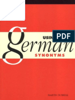 Using German Sinonyms