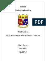 Wind Turbine Pitch Adjustment Scheme Design Exercise