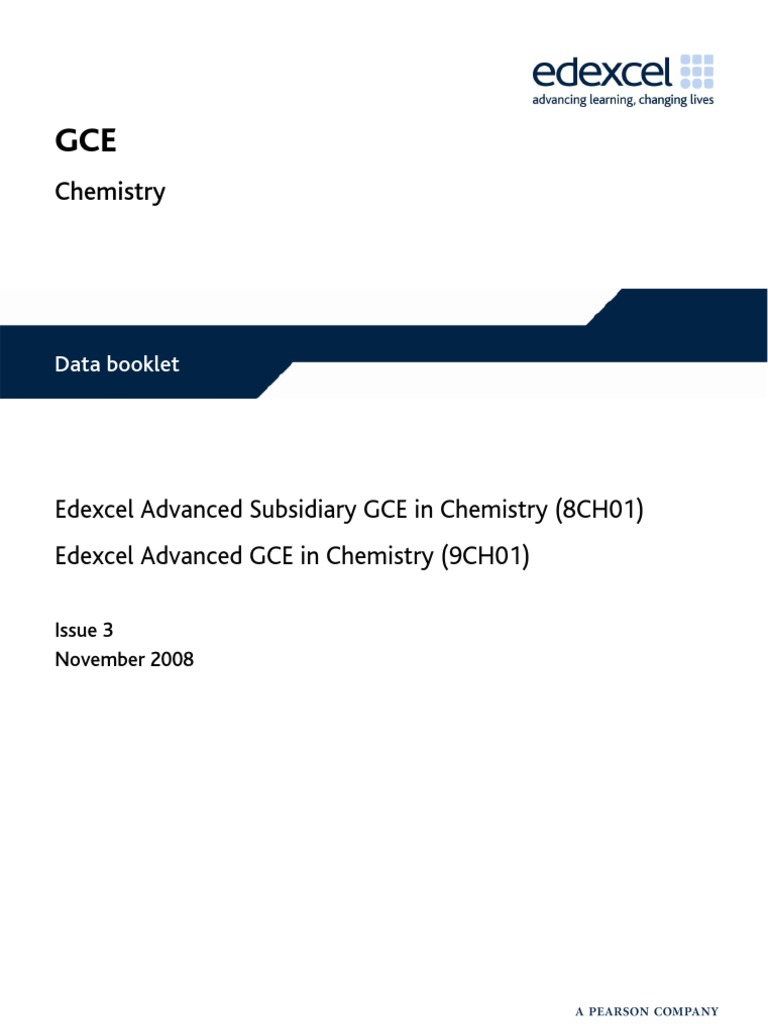 Gce chemistry data booklet issue 2 ester carboxylic acid urtaz Gallery