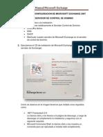 Instalacion y Configuracion de Microsoft Exchange 2007