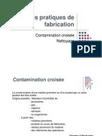 BPF Nettoyage Contamination Croisee 2012