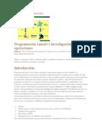 Introduccion Programacion Lineal
