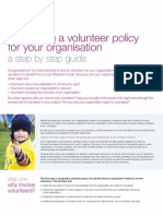 Developing a Volunteer Policy