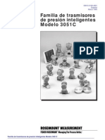 Familia de transmisores de presión inteligentes Modelo 3051C