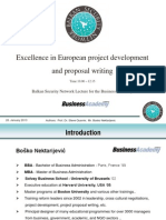 Excellence in European Project Development