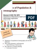 Principles Population Demography Moazzam Ali 2011