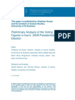 Preliminary Analysis of the Voting Figures in Iran's 2009 Presidential Election