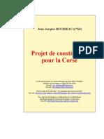 ROUSSEAU - Projeto de Constituição para a Córsega