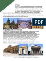 Arquitectura Neoclásica y Barroca