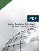 Anuário Estatístico de Portugal 2007 (INE 2009)