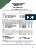 Advt Various Posts Seci 3 2013