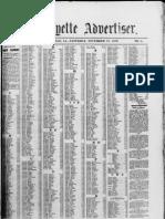 Lafayette Deliquent Tax Payers 1879