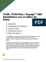 ti89 estadistica