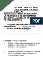 NORMAS Y PROCEDIMIENTOS PARA LA EVALUACIÓN DEL APROVECHAMIENTO-1