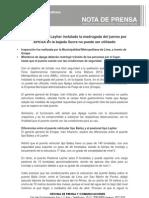 NP-083-13-Puente Peatonal Layher Instalado La Madrugada Del Jueves Por APEGA en La Bajada Sucre No Puede Ser Utilizado
