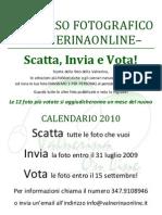 concorso fotografico 2009 calendario 2010