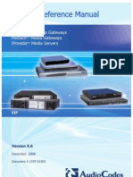 LTRT-52303 Product Reference Manual for SIP Gateways and Media Servers Ver 5.6