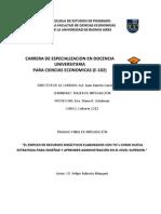 Recursos didácticos con TIC's como estrategia para enseñar y aprender Administración en el Nivel Superior - Felipe R Mangani