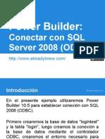 Tutorial PowerBuilder 10.5 - ODBC SQL2008