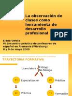 Observación como herramienta de desarrollo profesional (E.Verdía)