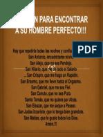 ORACIÓN PARA ENCONTRAR A SU HOMBRE PERFECTO!!!