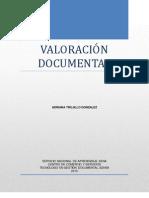 VALORACIÓN DOCUMENTAL