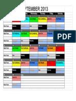 Fulcrum Matrix Schedule 2013 - September