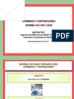Terminos y Definiciones Norma ISO Versión 2008 AV - Mayo 16 de 2012