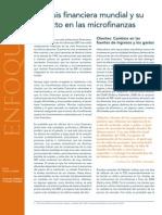 La Crisis Financiera Mundial y Su Impacto en Las Microfinanzas