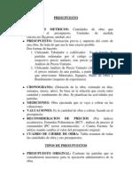 Apuntes Administracion de Obras y Presupuesto