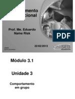 ADM 3 1 Comportamento Organizacional Aula3 Un3