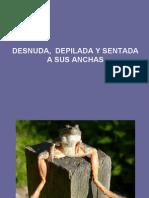 Desnuda Depilada y Sentada