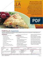 Receta Diabetes Tortilla Espanola