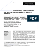 Ertapenem Versus Ceftriaxone and Metronidazole as Treatment for Complicated I