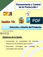 Sesión 10.0 PCP I - USMP - Selección y Diseño del Producto