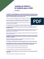40 novas questões de direito e processo do trabalho para a OAB