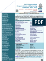 Cfp the 17th International Computer Science and Engineering Conference (ICSEC 2013)