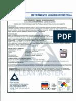 MSDS (Detergente Liquido Industrial).pdf