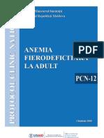 protocol clinic - Anemia Fierodeficitara