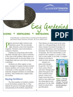 Chemical Fertilizing - Fact Sheet