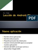 Lección de Android 01 - Pchan